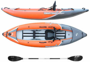 Driftsun Rover 120 Inflatable White-Water Kayak - fishing kayak