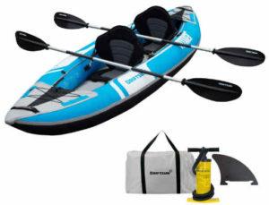 Driftsun Voyager 2 Person Inflatable Kayak - best fishing kayak