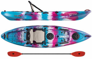 Vibe Kayaks Yellowfin 100 to 110 9 Foot Angler Recreational Sit On Top Light Weight Fishing Kayak