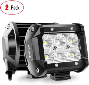 Nilight 18W (2pac) Boat light-emitting diode Marine Fog Lights