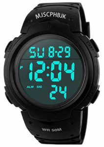 Men's Digital Sports Watch, Waterproof diode Screen giant Face Army Watch