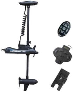 Aqueous Black Haswing 12v 55lbs Shaft Bow Mount Electric Trolling Motor